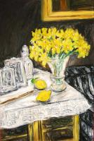 Still Life with Daffodils and Two Lemons