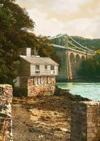 Menai Bridge and Cottage