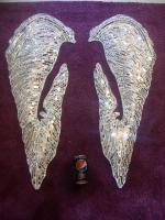 Large 3d hand sculpted/ mirror mosaic angel s
