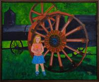 Steam Tractor with small child