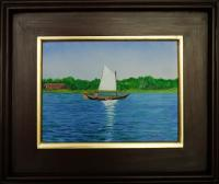Dutch Sailboat on Bog