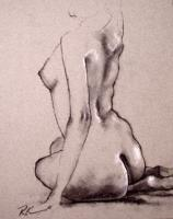 Charcoal Figure Drawing #78