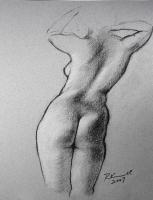 Charcoal Figure Drawing #76