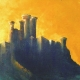 Dark Castle Oil painting prin